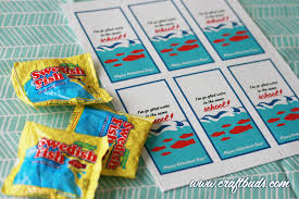 fish valentines swedish fish printables craft buds