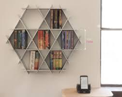 Triangle Shaped Bookcase Floating Shelves Hanging Bookshelf Bookshelves Wall Shelf