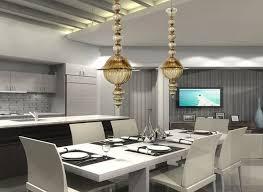 Modern Dining Room Pendant Lighting Glamorous Gold Finished Pendant Lights For Modern Luxury Dining