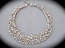 chunky crystal bib necklace images Bridal swarovski crystal necklace jpg
