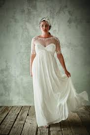 plus size bridal gowns discount fashion plus size wedding dresses with half sleeves sheer