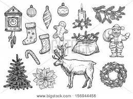 christmas new year symbols vector u0026 photo bigstock