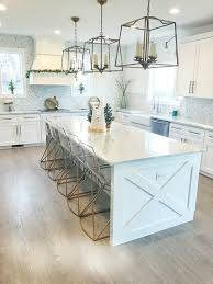 kitchen cabinet ends modern farmhouse kitchen with x detail on island ends and side of