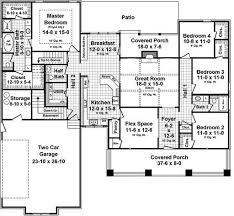 craftsman floor plan craftsman style house plan 4 beds 2 5 baths 2233 sq ft plan 21