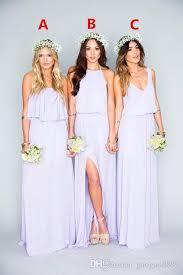 floral bridesmaid dresses 2017 gorgeous lilac bridesmaid dresses ruffles mumu bohemian