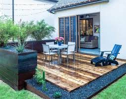 Ideas For A Small Backyard by Small Patio With Large Pots And Furniture Decorating Ideas For A