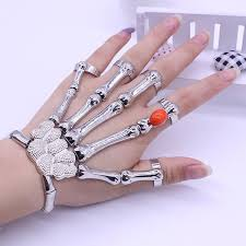skull hand bracelet images Silver punk rock skeleton skull hand bone bracelet buycoolprice jpg