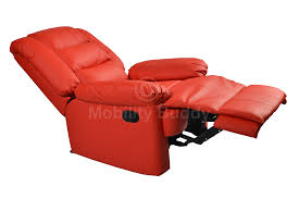 Red Leather Swivel Chair by Furniture Elegant Red Leather Recliner For Cozy Family Room