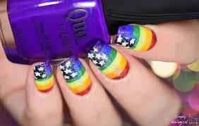 Rainbow Pride Flag Simply Nailogical American Pride Flag Nails