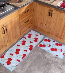 Fruit Kitchen Rugs 2 Piece Washable Kitchen Mats Fruit Pattern Kitchen Rugs And
