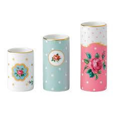 royal albert vintage vases set of 3 minature vases