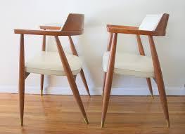 Mcm Furniture Mcm White Barrel Back Chairs 3 Picked Vintage