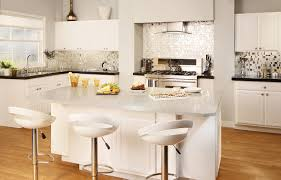 Idea Kitchen Design Stylish White Kitchen Design With Granite Kitchen Countertop And