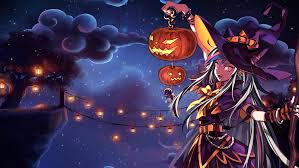 halloween cartoon wallpaper ibuki mioda halloween wallpaper by pratishka on deviantart