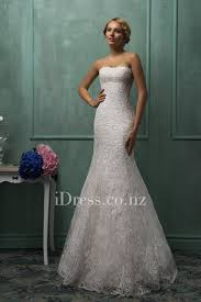 wedding dress overlay two strapless lace overlay mermaid wedding gown with