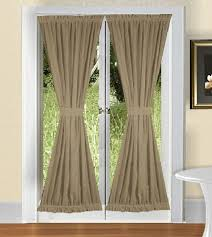 Curtains With Rods On Top And Bottom Door Curtains Enhancing Plain Doors