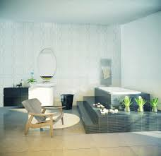 cool bathroom with elevated tub interior design ideas
