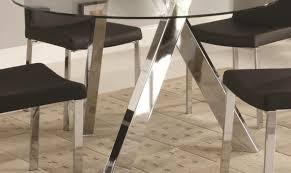 Kitchen Table Legs Table Pleasing Glass Chrome Kitchen Table Uncommon Striking