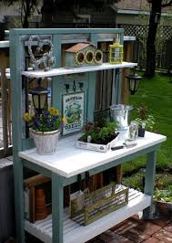 Inexpensive Potting Bench by Pallet Wood Potting Bench Plans Recycled Things