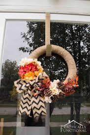 simple diy burlap wreath with fall