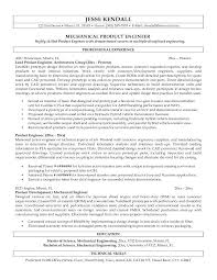 Mechanical Engineering Resume Examples Sample Of Mechanical Engineer Resume Mechanical Design Engineer