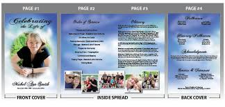 funeral bulletin template funeral bulletin templates with colorful clouds in the