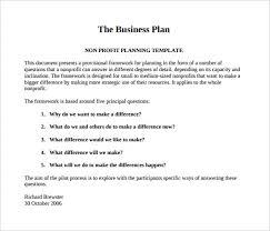 business plan template pdf non profit business plan template 18