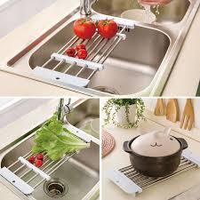 kitchen sink drainer tray cutting board food constainer storage sink holder chopping blocks
