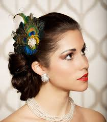 feather hair accessories peacock feather hair clip fascinator bridal by gildedshadows