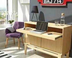 bureau office contemporary office desk doors shelve computer home bureau storage