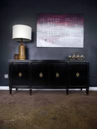 vintage ground mid century vintage sleek black buffet sideboard