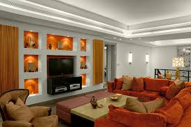 Burnt Orange Living Room Furniture Burnt Orange Sofa Family Room Contemporary With Accent Wall On