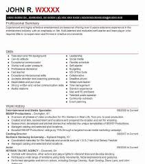 How To Make A Job Resume With No Job Experience by 11 Amazing Media U0026 Entertainment Resume Examples Livecareer
