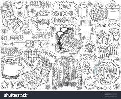 Home Design Doodle Book by Hygge Doodles Winter Season Cozy Home Stock Vector 551995753