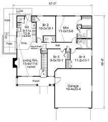 farmhouse style house plan 4 beds 2 50 baths 1203 sq ft plan 57 383