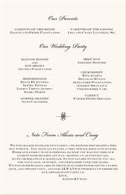 wedding programs exle order of service for wedding ceremony wedding ideas 2018