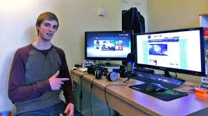 two desks in one room ali a youtube gaming setup 3178 design