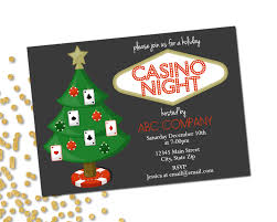 holiday party invitation company casino holiday party