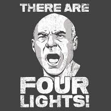 four lights there are four lights memex know your meme