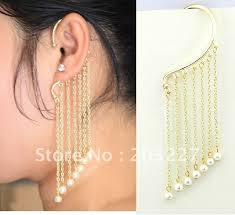 cuff earrings with chain gallery for ear cuffs with chain gold ear cuff with chain rd