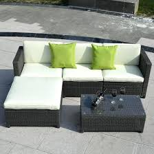 outdoor furniture sets with fire pit 5 wicker rattan sofa