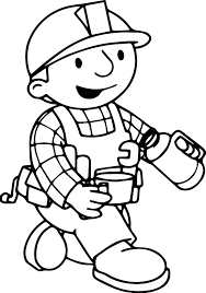 bob the builder drink tea coloring page wecoloringpage