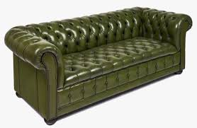 Square Chesterfield Sofa by Vintage Green Leather Chesterfield Sofa Jean Marc Fray