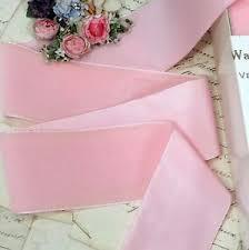 pink velvet ribbon 2 wide baby pink velvet ribbon trim flower vtg antique