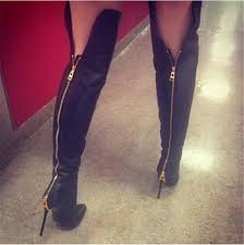 womens boots zipper back aliexpress com buy black leather knee high boots back