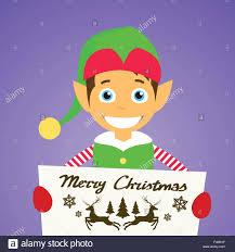 merry christmas elf cartoon character poster little santa helper