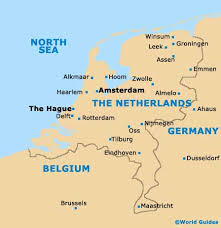 where is amsterdam on a map netherlands map with harlaam reading literature