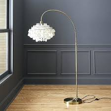 shaded arc floor lamp with marble base teardrops u2013 home decoration