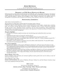 Best Resume Objective Samples by Property Manager Resume Example Hospitality Management Resume