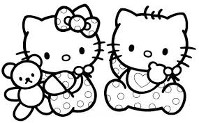 coloriage chat hello kitty